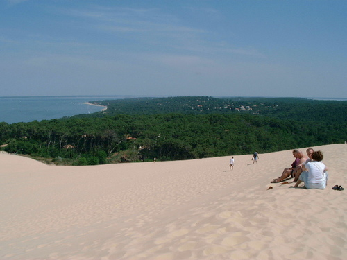 Northern view from the top of la Grand dune de Pilas