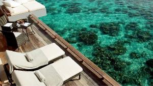 Aqua Villa and the house reef