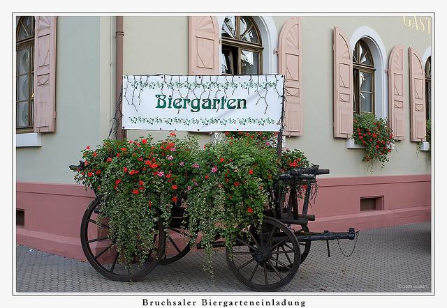 Пивные сады Германии