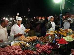 уличная еда в Марракеше